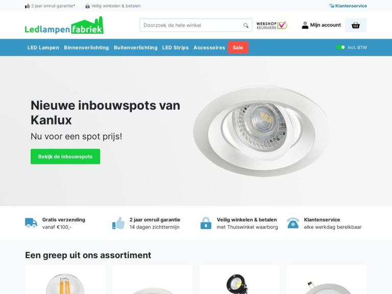 Ledlampenfabriek.nl screenshot