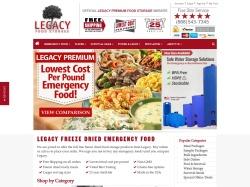 legacyfoodstorage.com screenshot