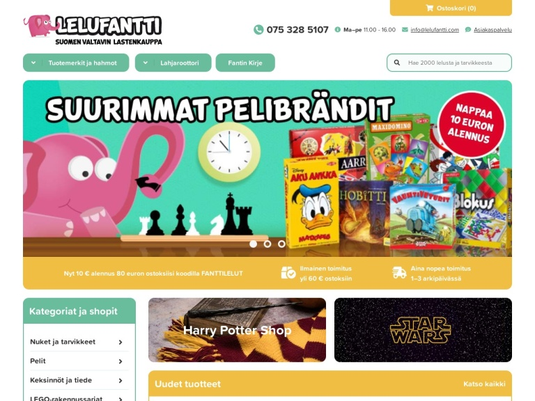 Lelufantti screenshot