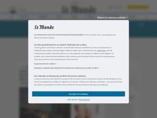 Capture d'écran pour lemonde.fr