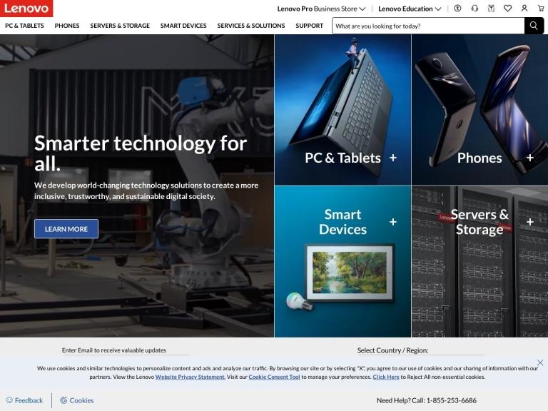 Lenovo US screenshot