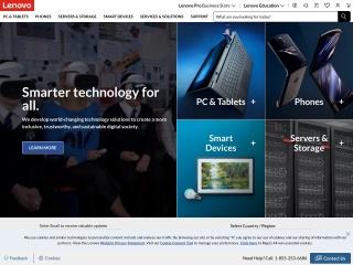 Screenshot for lenovo.com