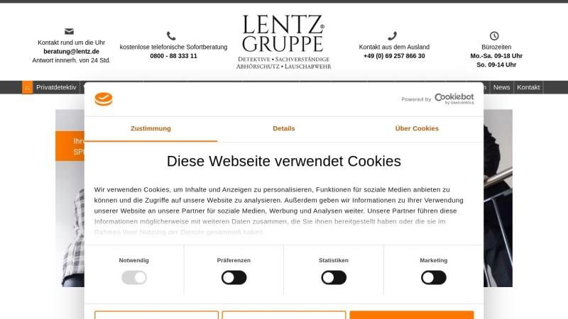 www.lentz-detektei.de Vorschau, Lentz & Co. GmbH