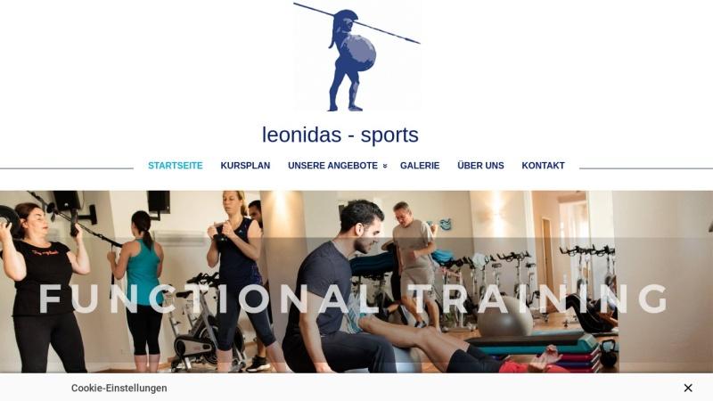 www.leonidas-sports.de Vorschau, Gesundheitszentrum Leonidas-Sports in Hürth bei Köln