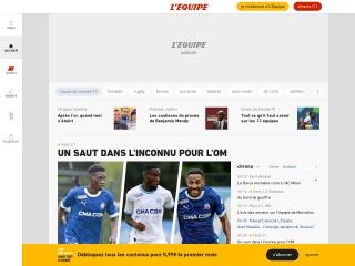 Capture d'écran pour lequipe.fr