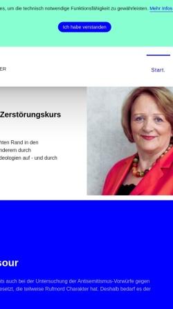 Vorschau der mobilen Webseite www.leutheusser-schnarrenberger.de, Leutheusser-Schnarrenberger, Sabine
