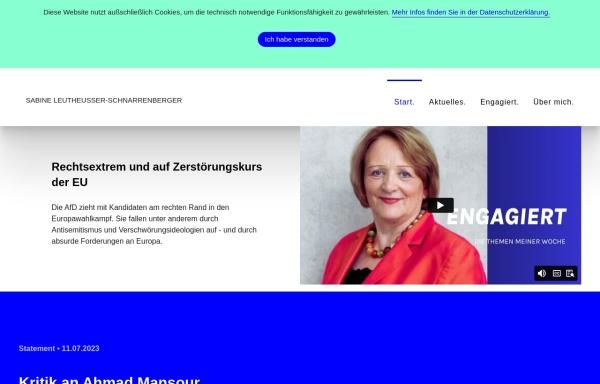 Vorschau von www.leutheusser-schnarrenberger.de, Leutheusser-Schnarrenberger, Sabine