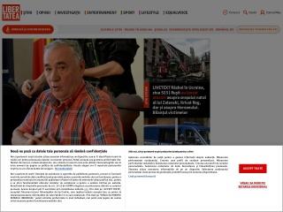 Screenshot al site-ului libertatea.ro