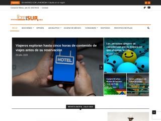 Captura de pantalla para libreenelsur.mx