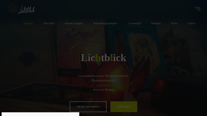 www.lichtblick-gesundheitspraxis.de Vorschau, Carmen Garcia - Praxis Lichtblick