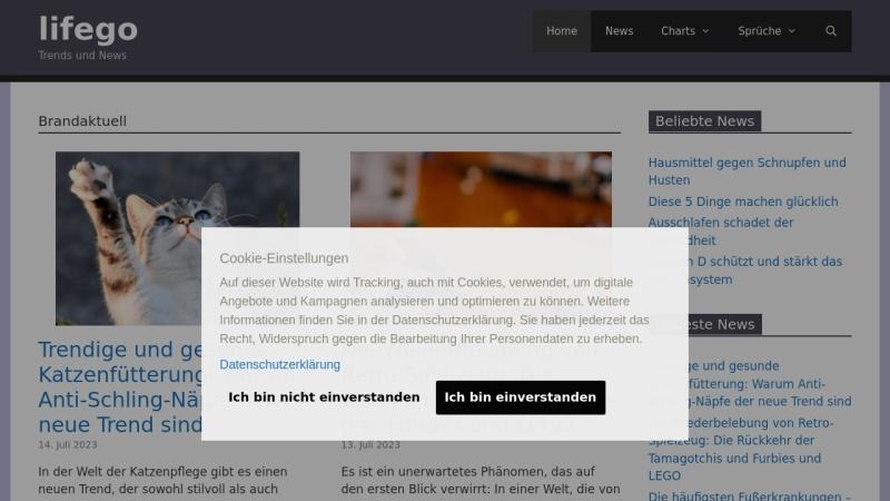 www.lifego.de Vorschau, Lifego.de Magazin