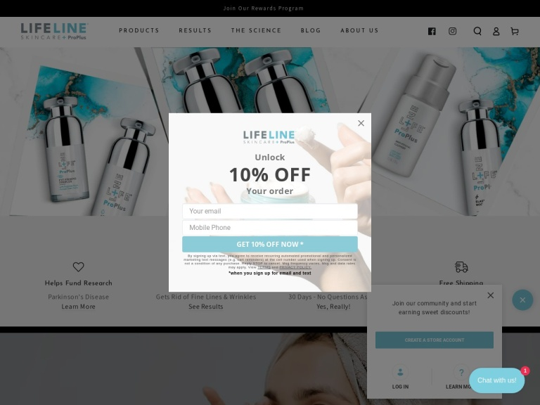 Lifeline Skin Care screenshot