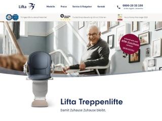 Screenshot der Website lifta.de