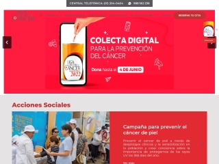 Captura de pantalla para ligacancer.org.pe