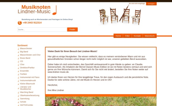 Musiknoten Johanna Lindner und Sohn