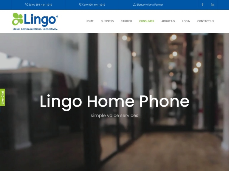 Lingo Home Phone screenshot