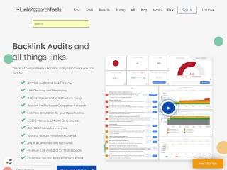 Screenshot for linkresearchtools.com
