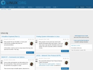 Screenshot for linux.org