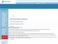 GNU Bash Reference Manual