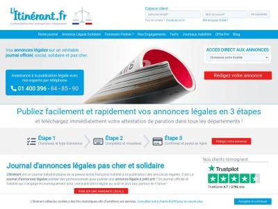 Annonces légales gratuites - Litinerant.fr