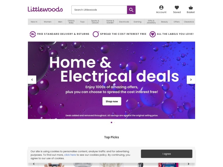 Littlewoods Free Delivery screenshot