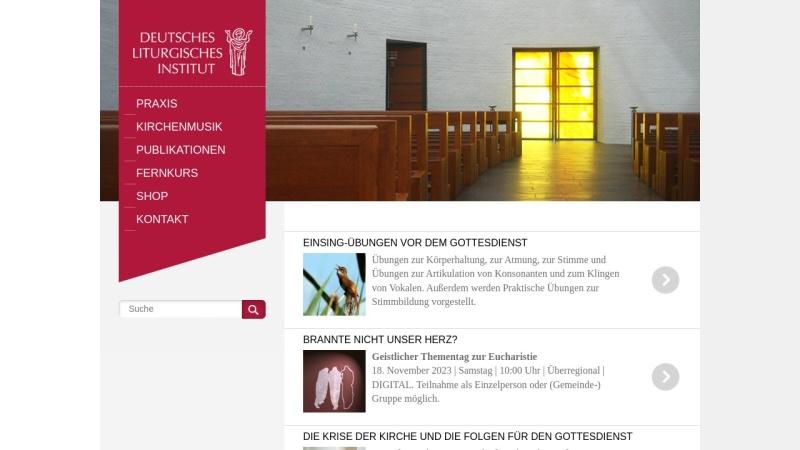 www.liturgie.de Vorschau, Deutsches Liturgisches Institut