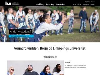 Skärmdump för liu.se