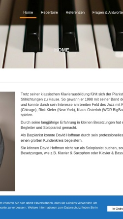 Vorschau der mobilen Webseite www.live-pianist.de, Hoffman, David