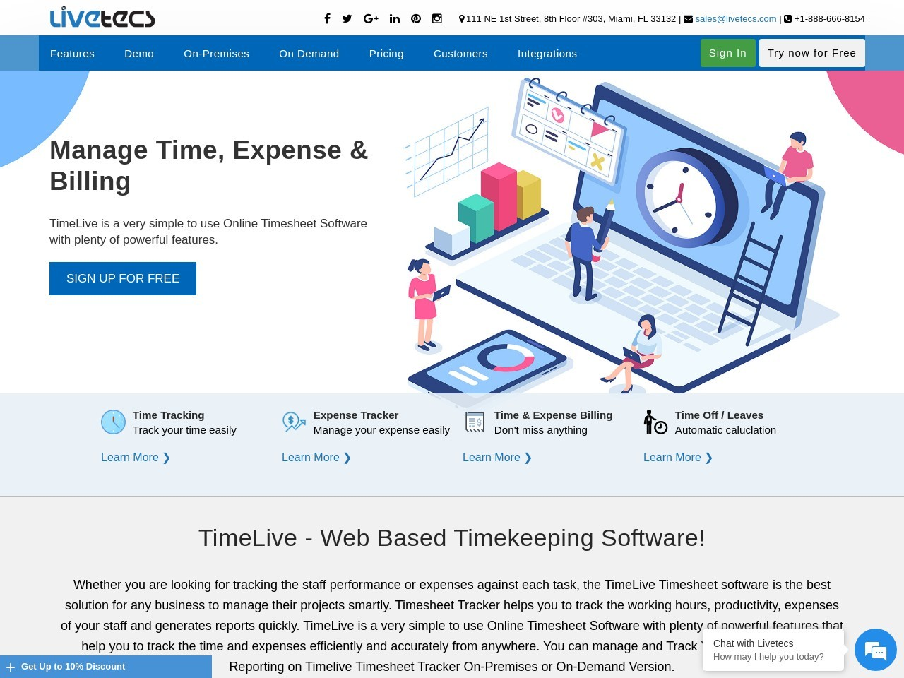 TimeLive Hosted (Enterprise) (Unlimited Users) – 15% Off