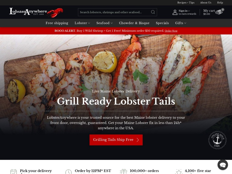 Lobster Anywhere Coupon Codes