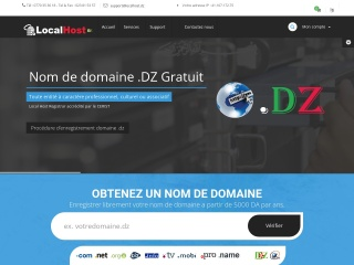 Capture d'écran pour localhost.dz