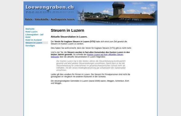 Vorschau von www.loewengraben.ch, Verein für tragbare Steuern
