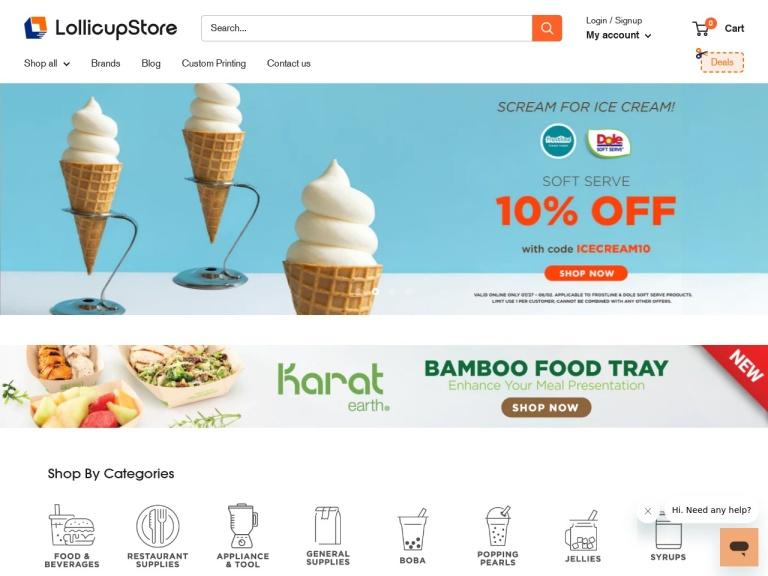 Lollicup Promo Code screenshot