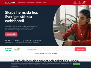 Skärmdump för loopia.se