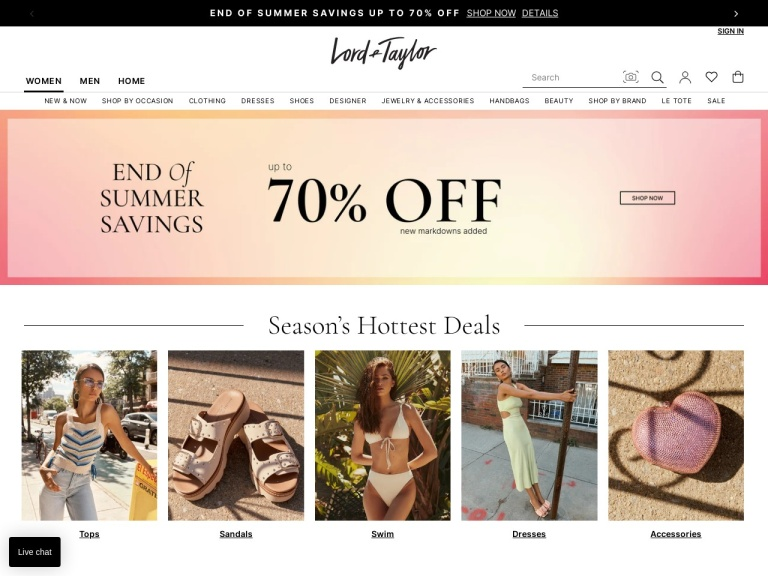 Lord & Taylor screenshot