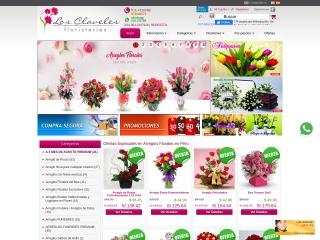 Captura de pantalla para losclaveles.com.pe