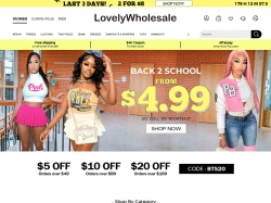 LovelyWholesale.com screenshot