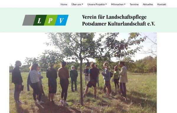 Vorschau von www.lpv-potsdamer-kulturlandschaft.de, Landschaftspflegeverein Potsdamer-Kulturlandschaft e.V.