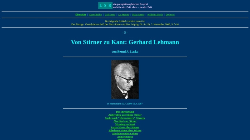 www.lsr-projekt.de Vorschau, Lehmann, Gerhard