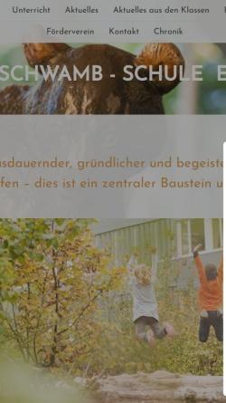 Vorschau der mobilen Webseite www.lss-eberstadt.de, Ludwig-Schwamb-Schule Eberstadt