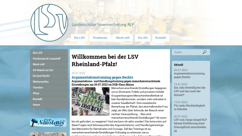 www.lsvrlp.de Vorschau, LandesschülerInnenvertretung Rheinland-Pfalz