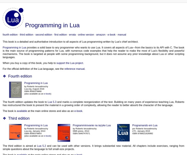 Programming in Lua (first edition)