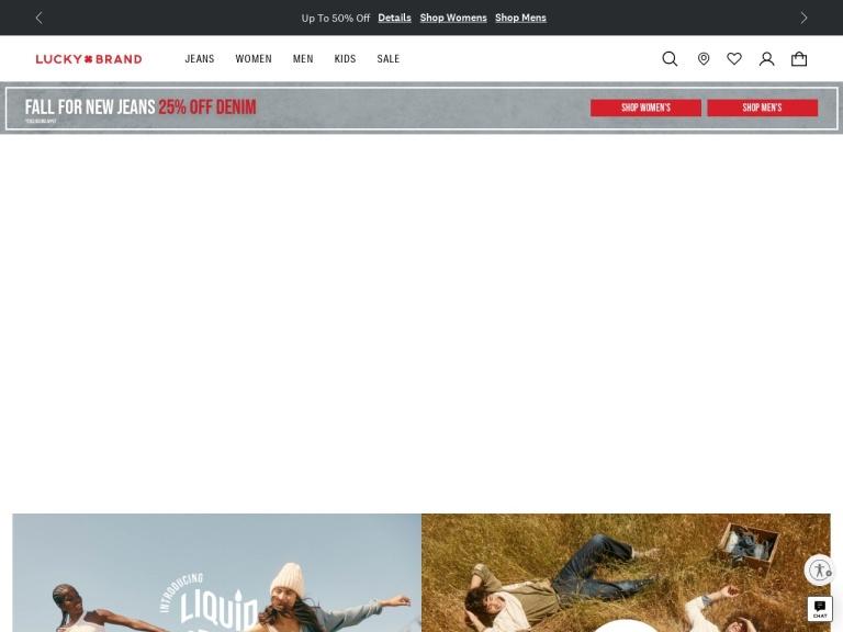Lucky Brand screenshot