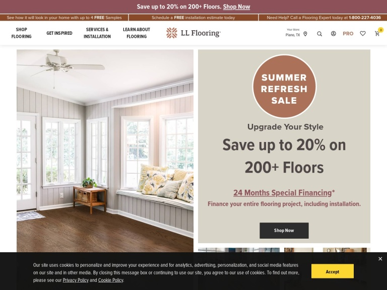 Lumber Liquidators screenshot