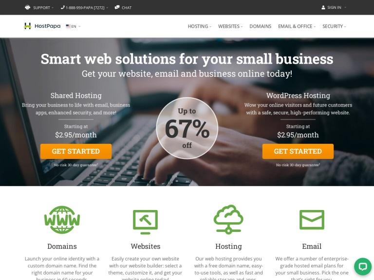 Lunarpages Web Hosting screenshot