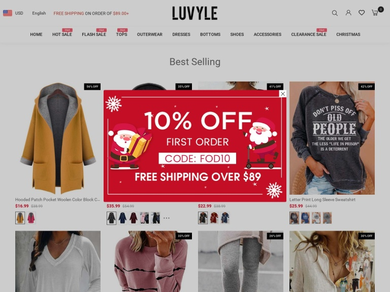Luvyle Inc-Luvyle.com $10 off Orders Over $75 With CODE:OP10