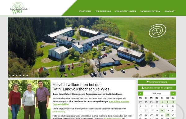 Vorschau von www.lvhswies.de, Landvolkshochschule Wies - Bildungszentrum für den ländlichen Raum