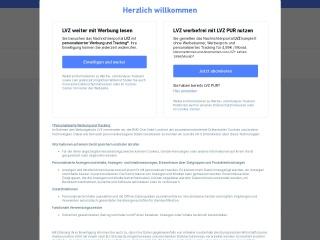 Screenshot der Website lvz.de