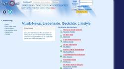 www.lyrix.at Vorschau, Lyrix.at - Die Lyrics Community mit aktuellen Übersetzungen