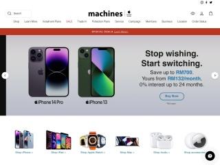 Screenshot bagi machines.com.my